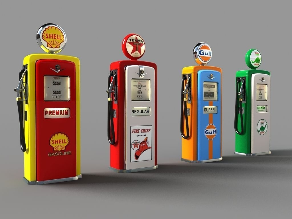 old Gas Pumps | 3D model