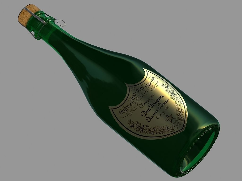 Champanger Bottle  -Dom Perignon-