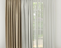 Curtain 3D model door