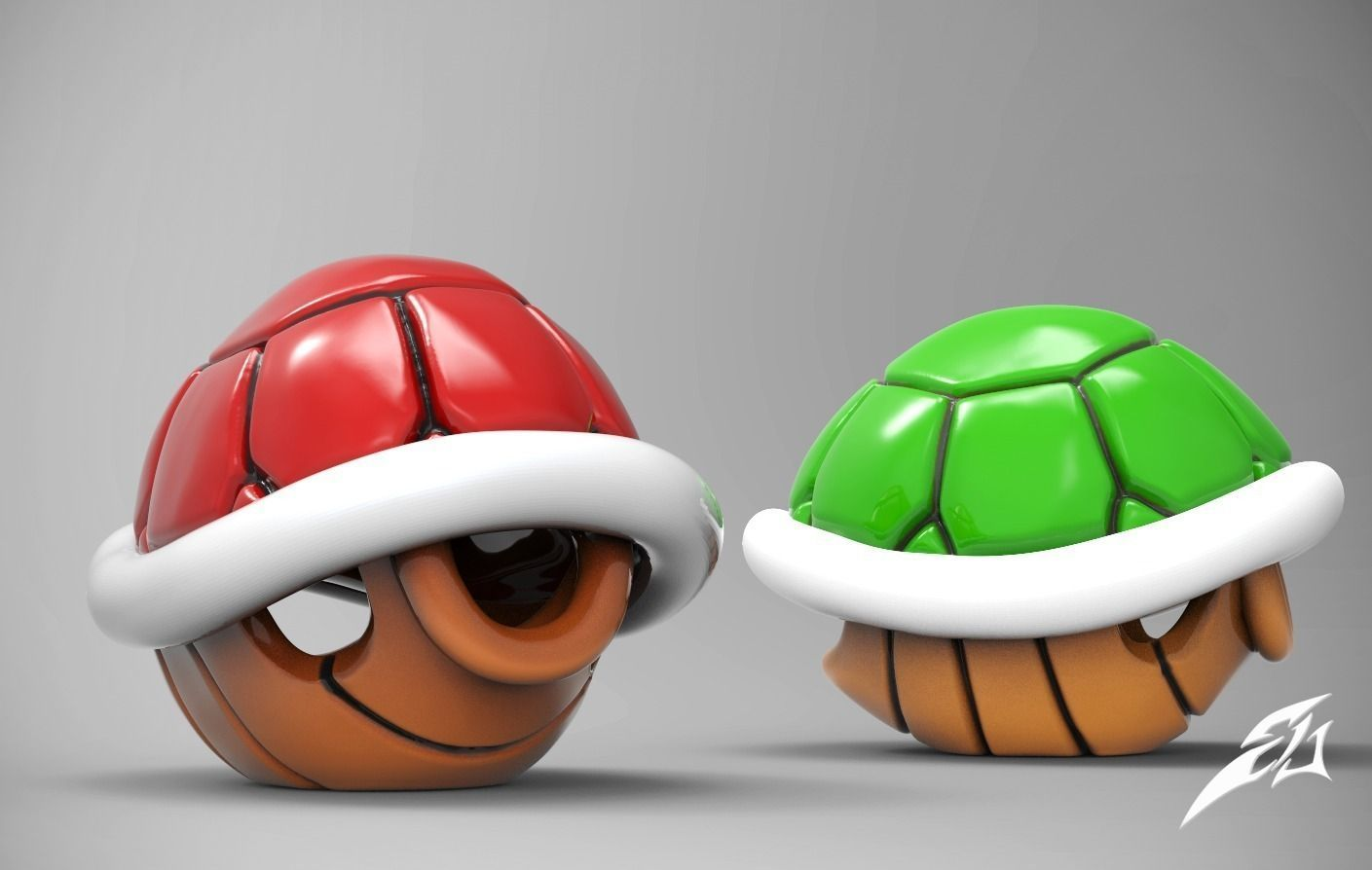 Mario Turtle Shell Fan Art For 3d Print Model Cgtrader