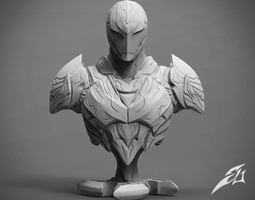 The Dark Armor Bust 3D printable model