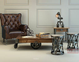 3D model Modern Furniture Set interior