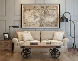 modern furniture set 7 3d