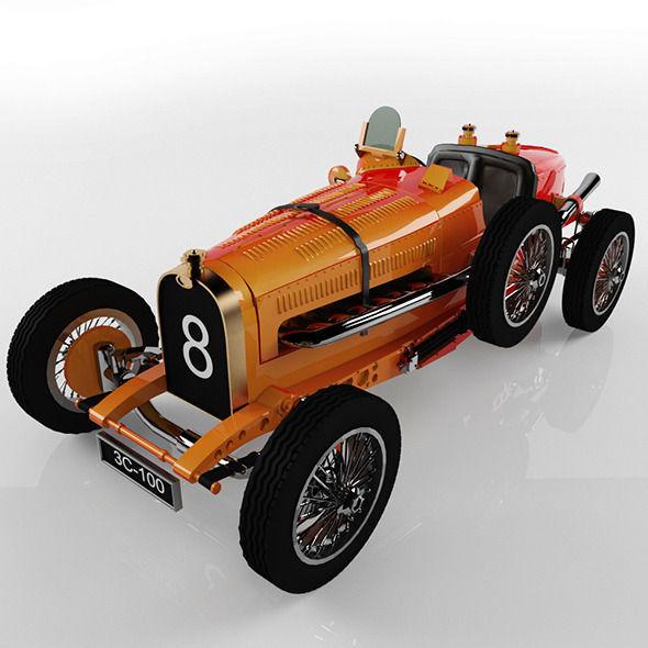 Old Bugatti Car 35 1924