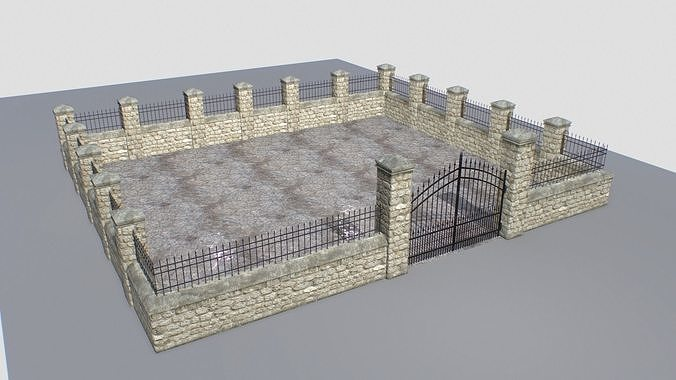 Stone fence wall pack 1
