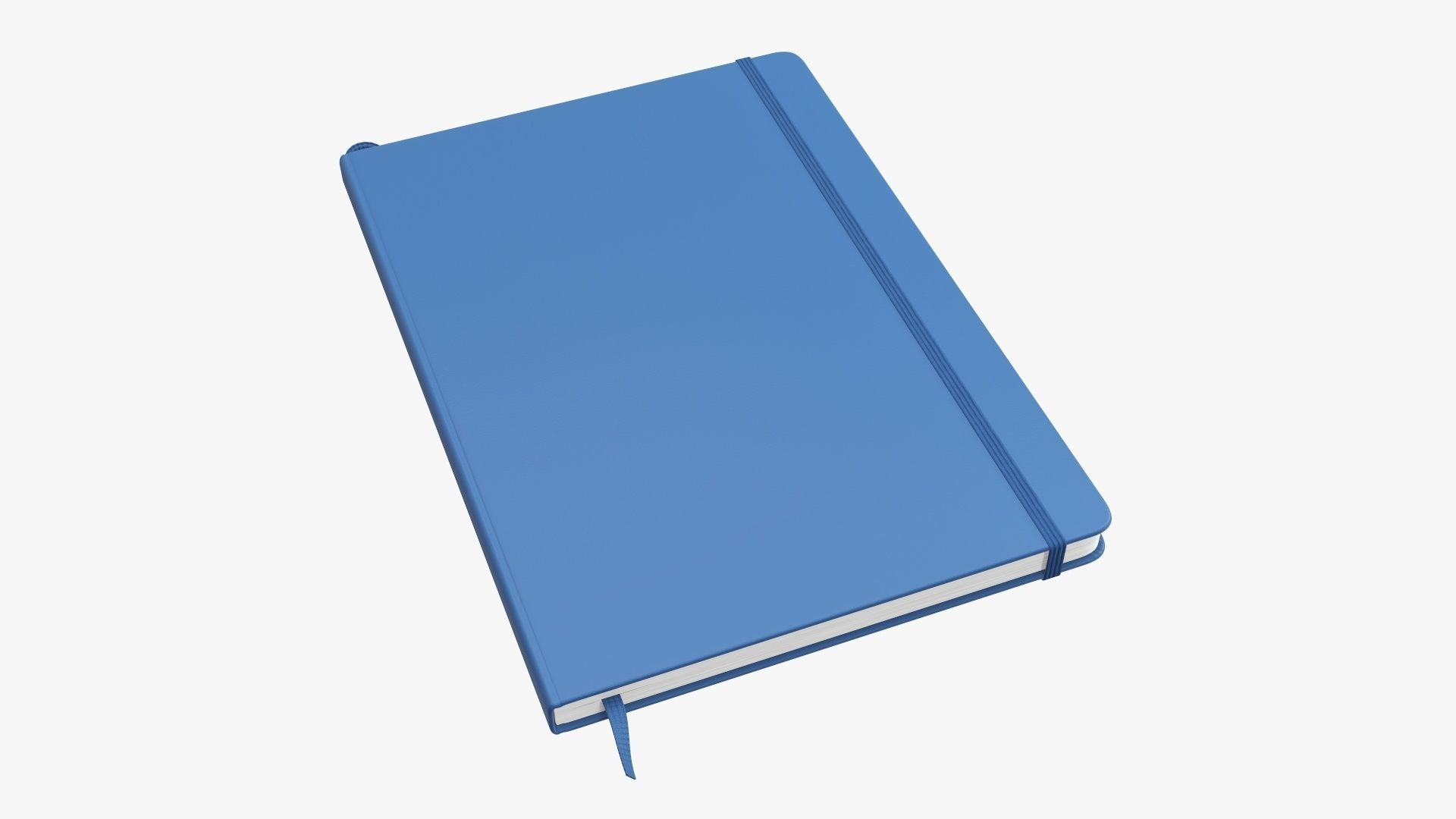 Notebook hardcover with strap large A4