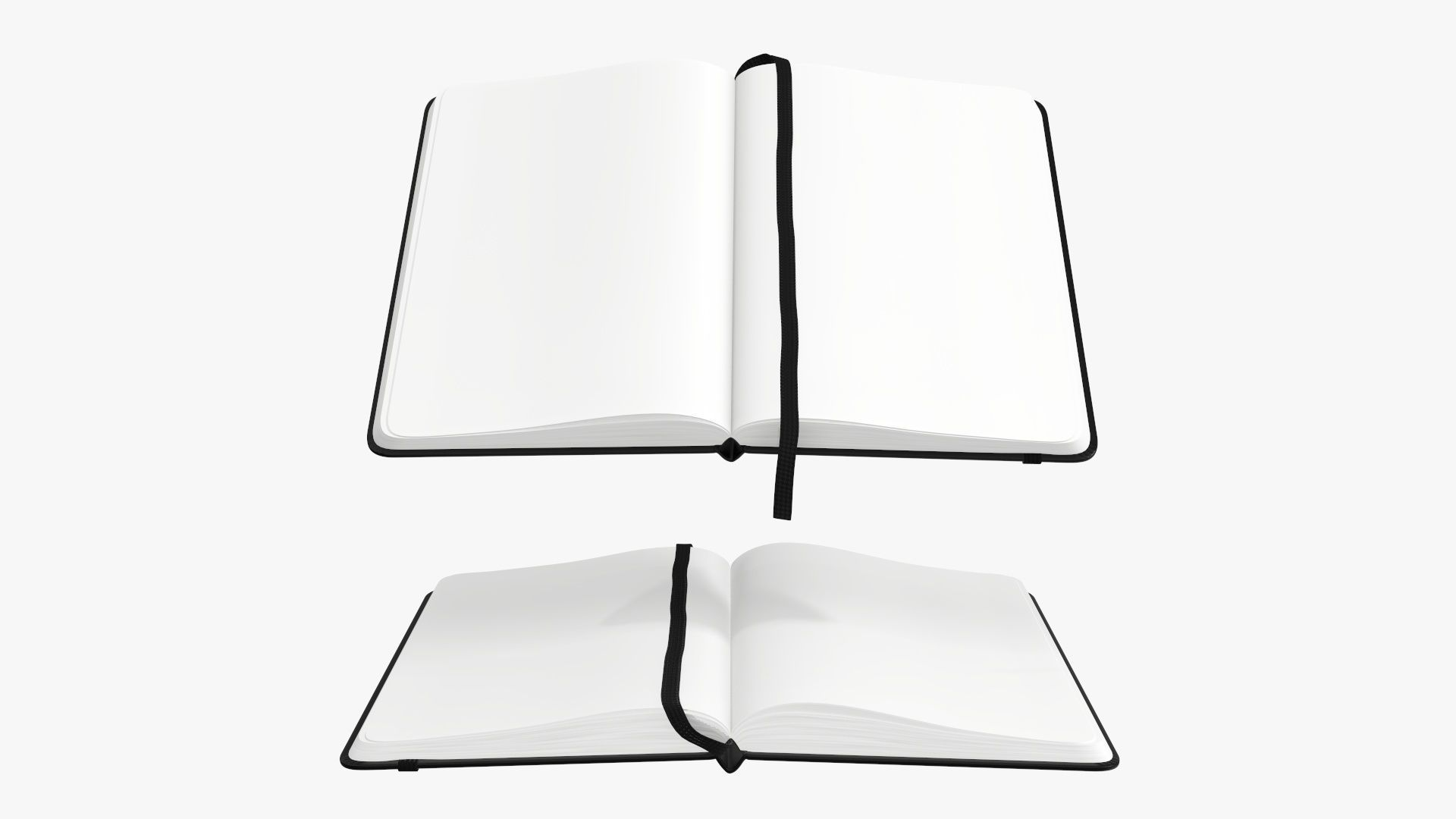Open notebook hardcover with strap