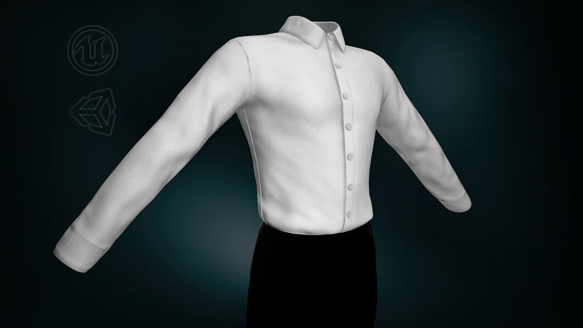 White Suit Shirt