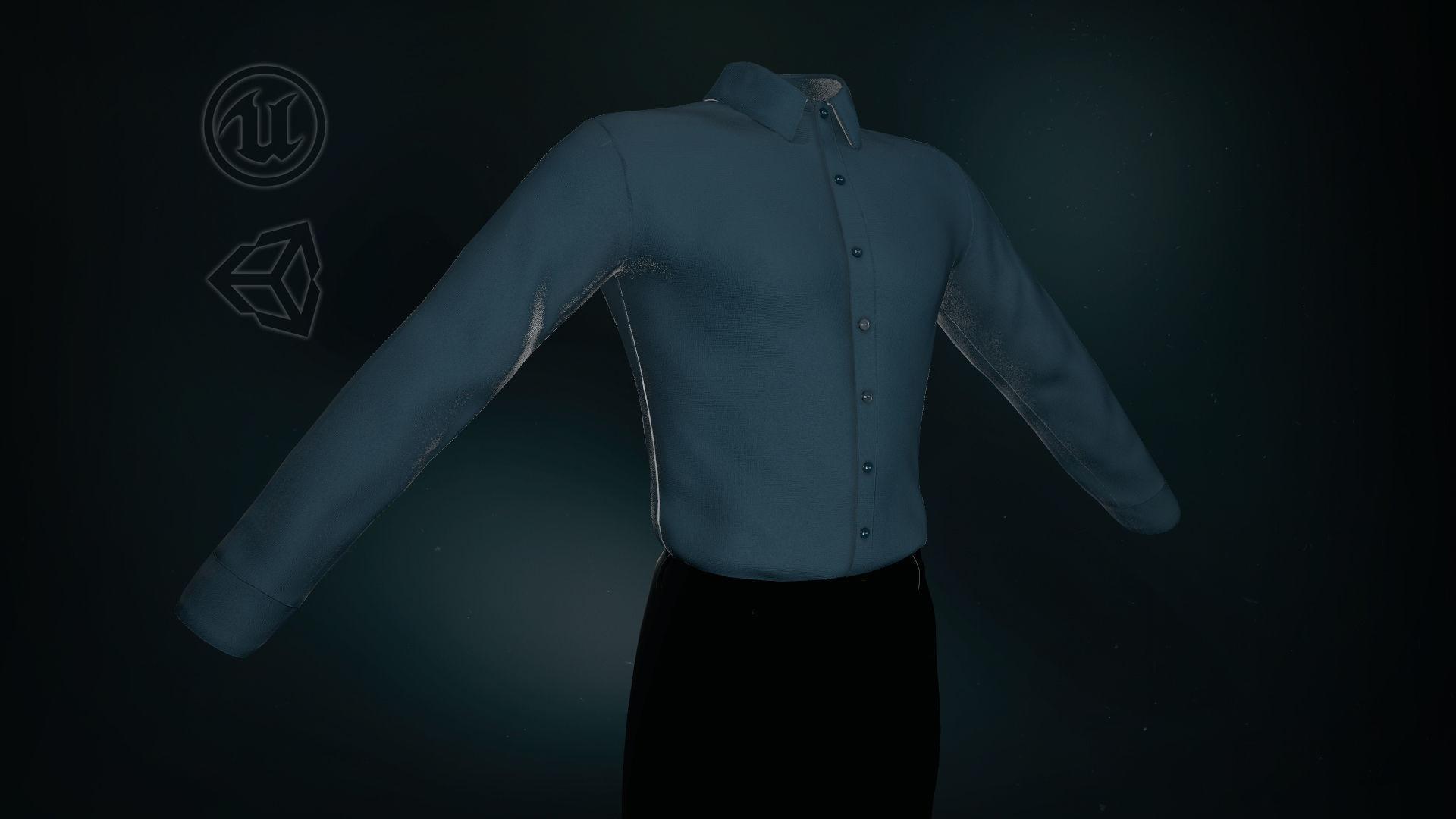 Blue Suit Shirt