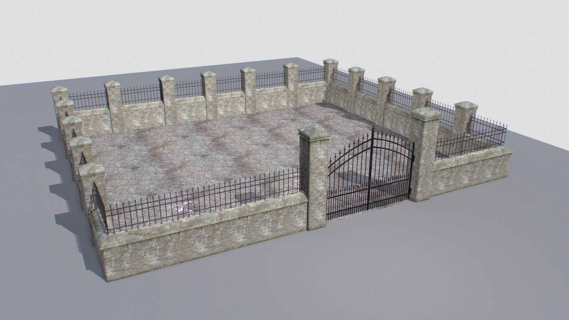 Stone fence wall pack 2