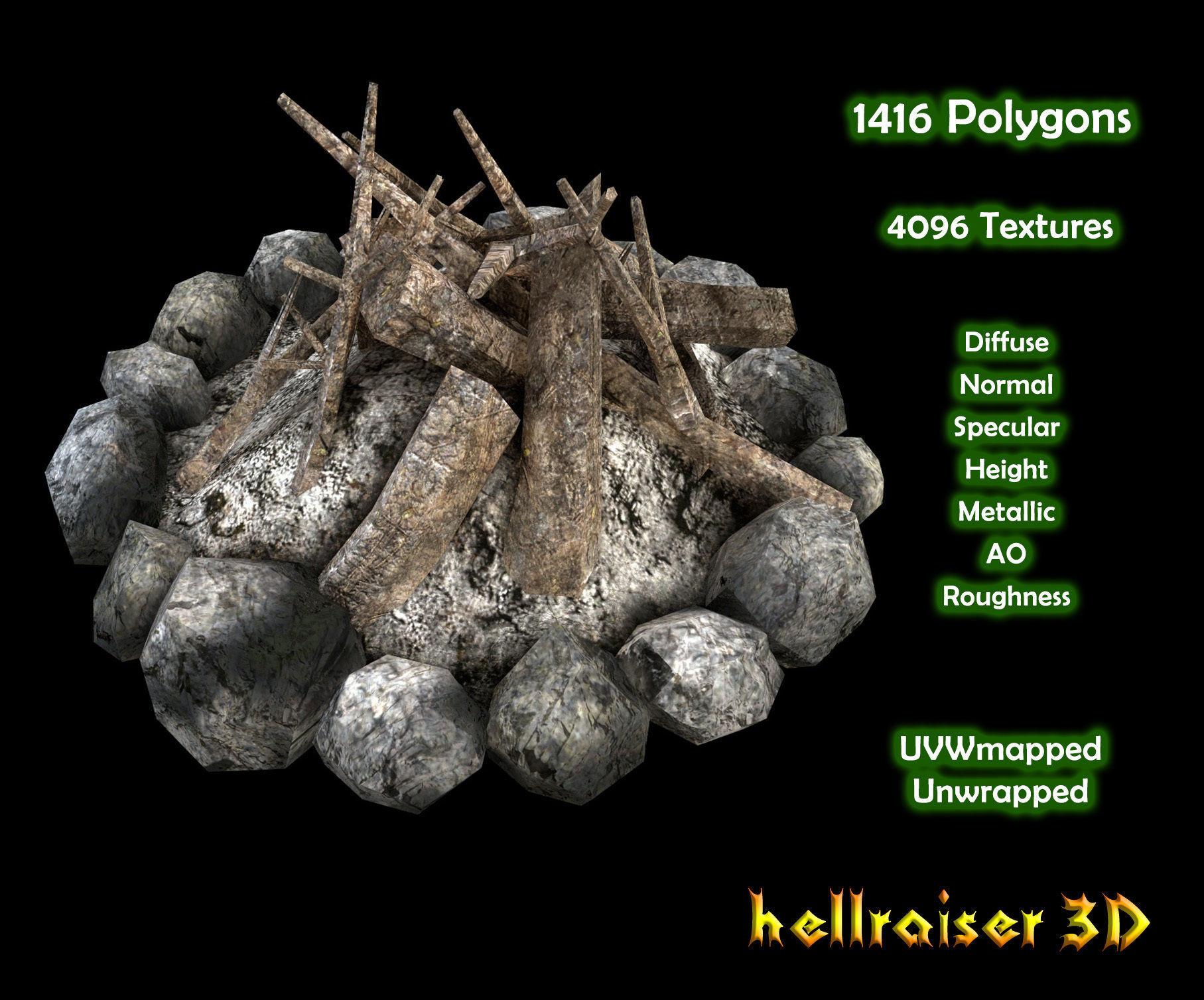 Campfire - PBR - Textured
