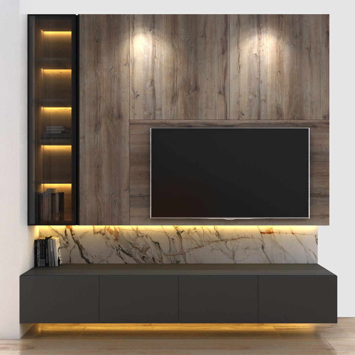 Tivi wall set 4