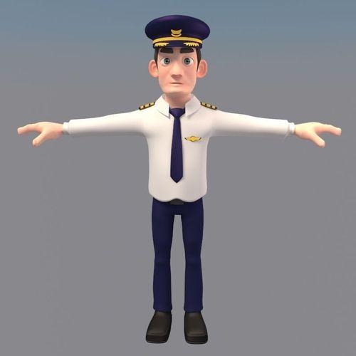 Cartoon Characters 3d Model Download : D model animated cartoon pilot character cgtrader