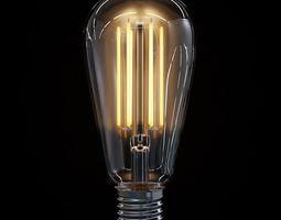 LED Filament Bulb 03 3D Model
