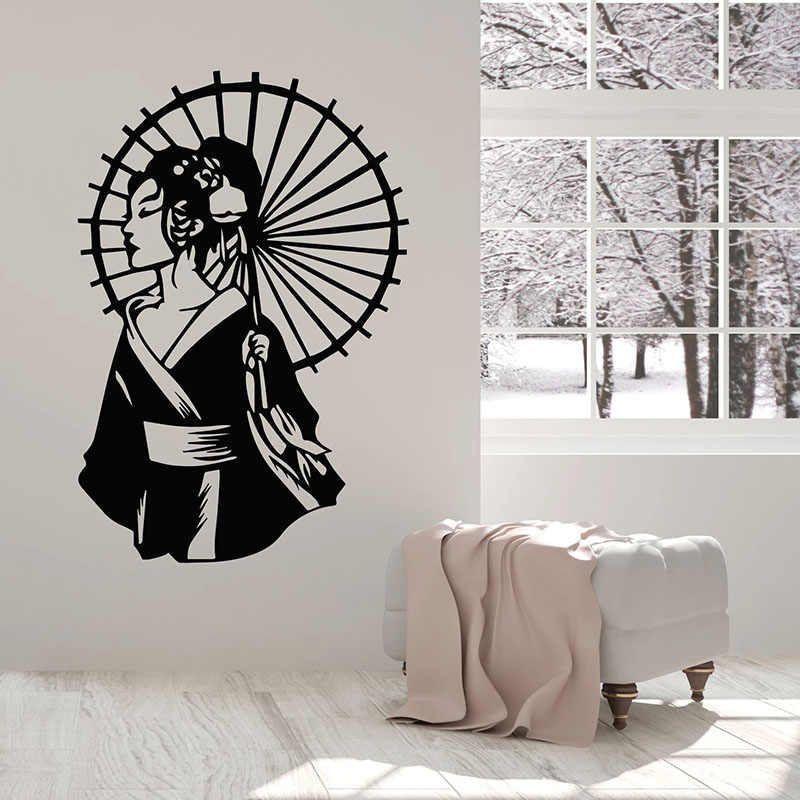 Panel on the wall of a geisha