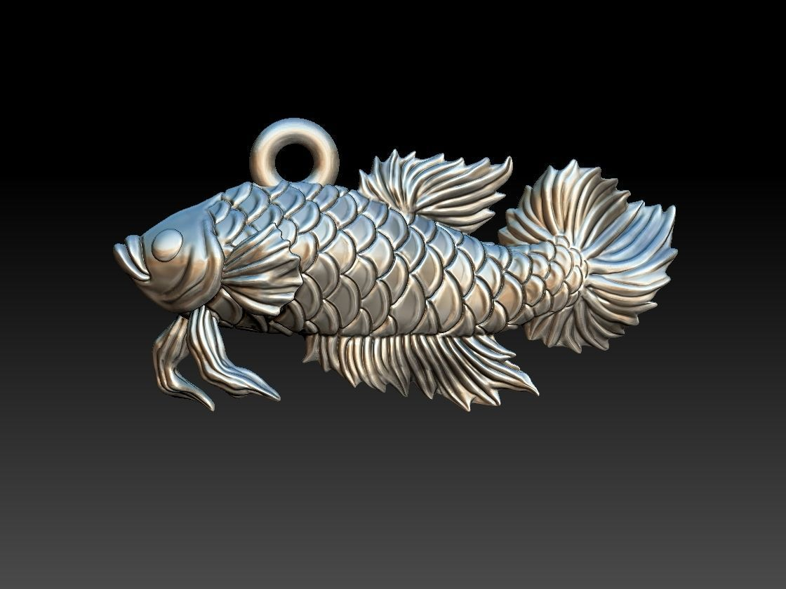 Siamese fighting fish pendant
