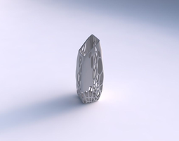 vase bent rectangle with organic lattice and solid centers 3d printable model