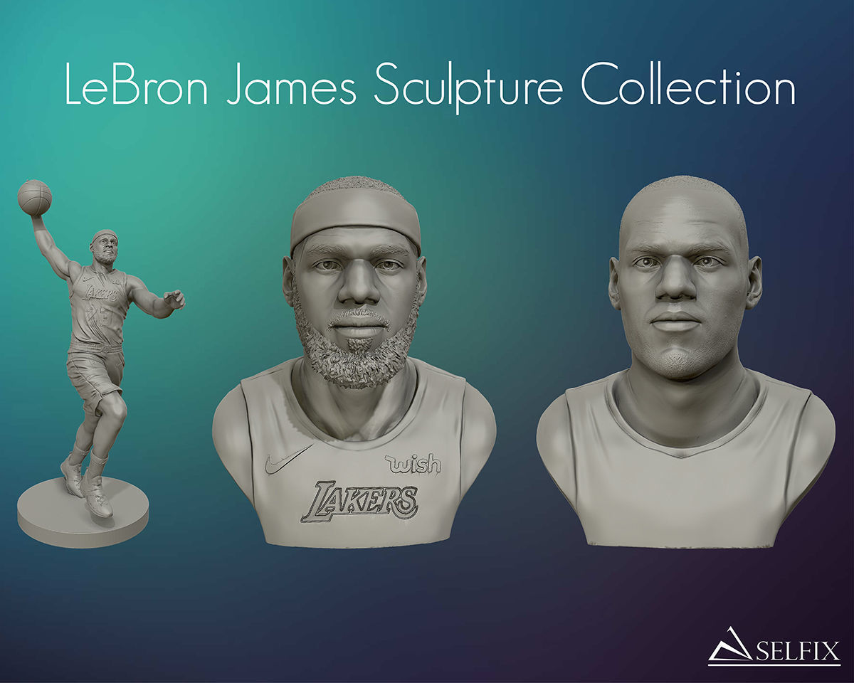 LeBron James 3D models sculpture Collection