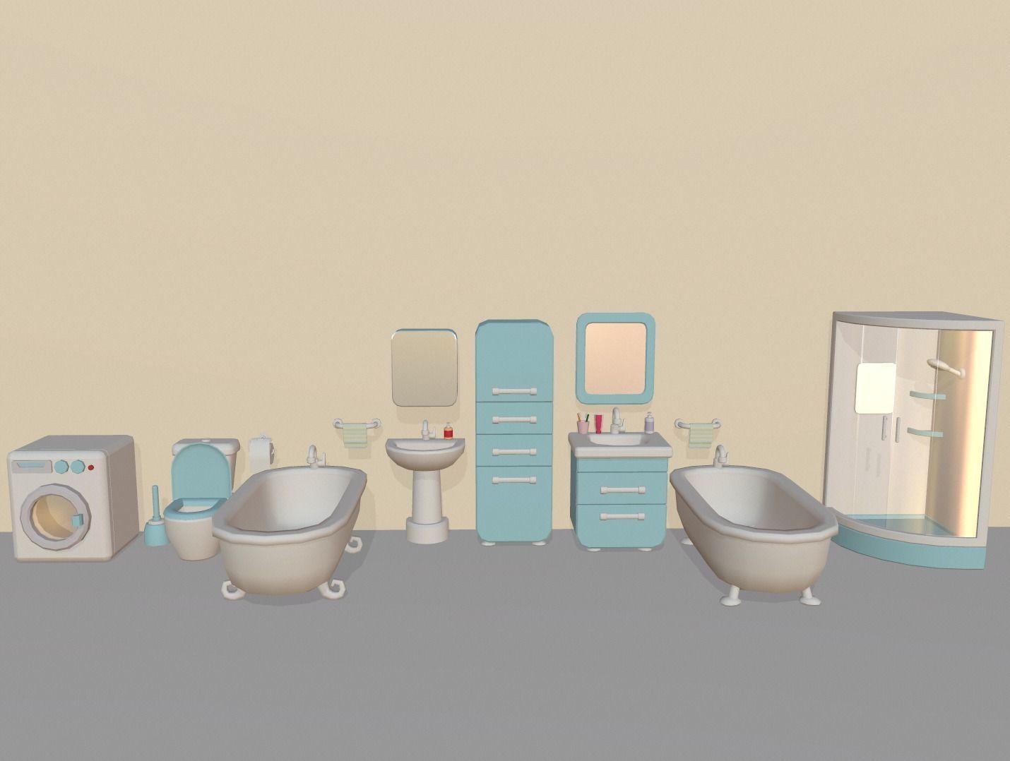 Cartoon Bathroom Package