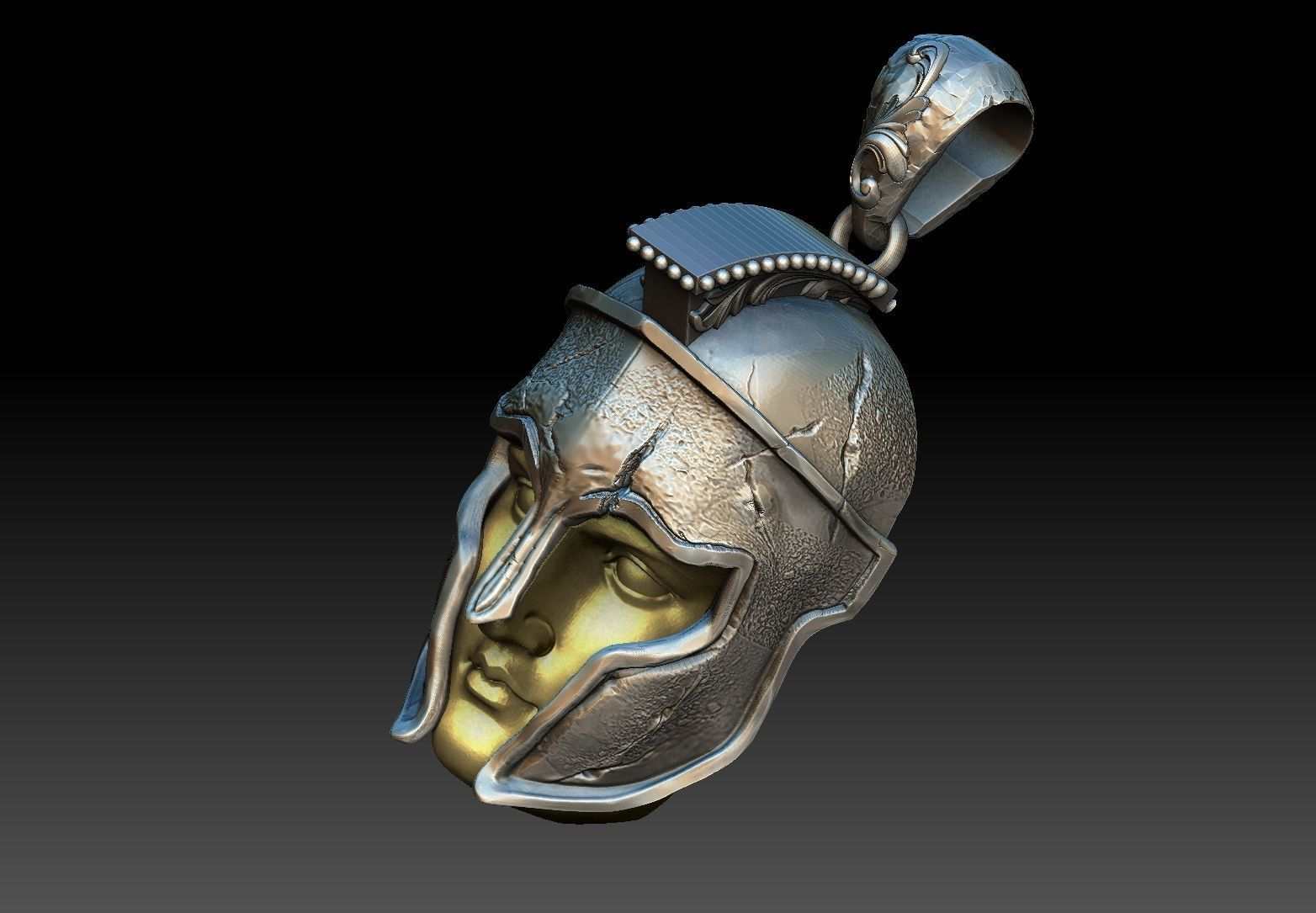 spartan warrior pendant