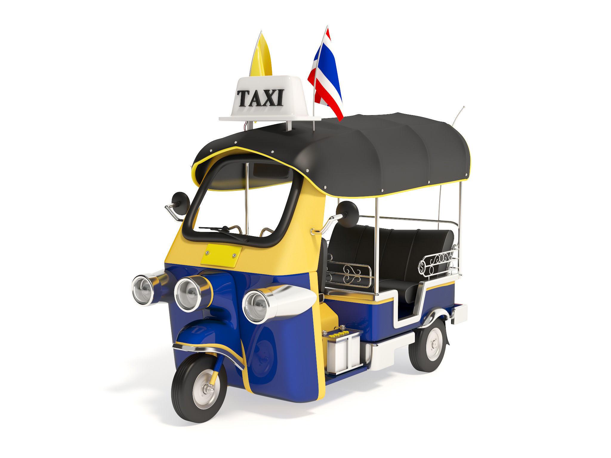 Tuk-Tuk Motor-tricycle in Thailand