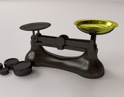 kitchen weighing scale 3d