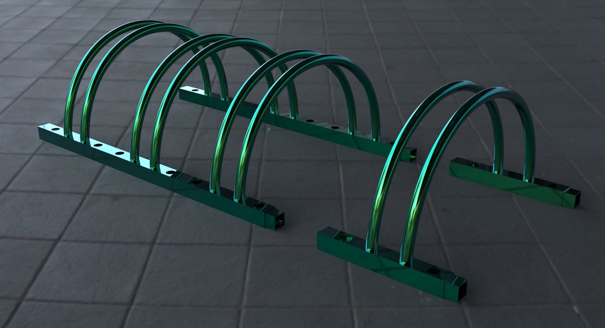 Sectional bicycle parking