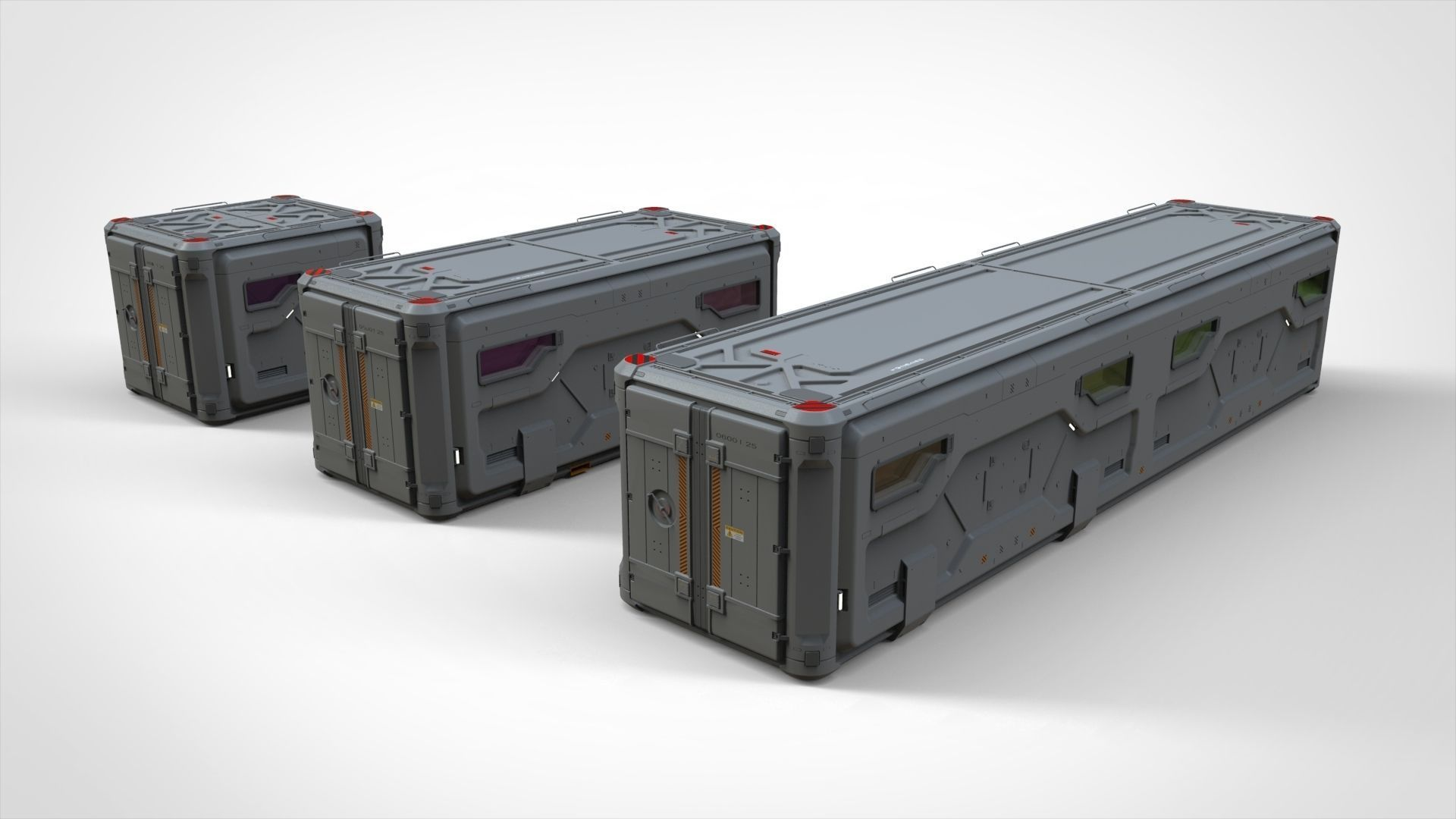 sci fi Cargo Container 2