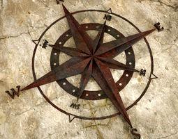 3D print model Old Metal Compass