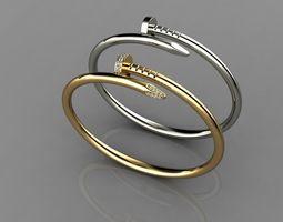 3D printable model gold Juste un Clou Bracelet