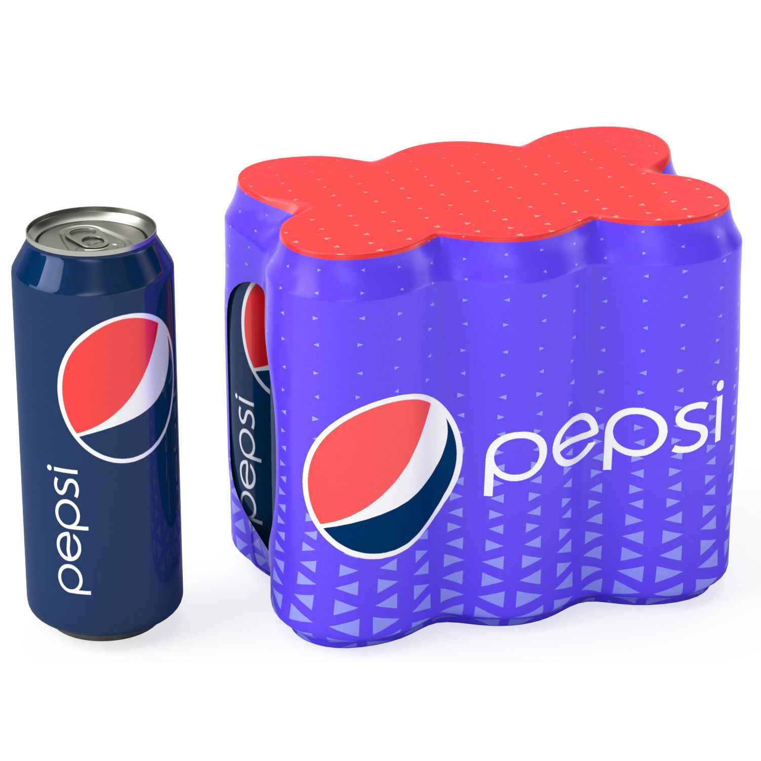 Six Pack of Cans Shrinkwrapped Packaging For 250ml 6 Cans