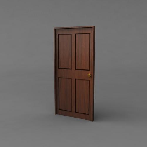 3d Model Simple Classic Door