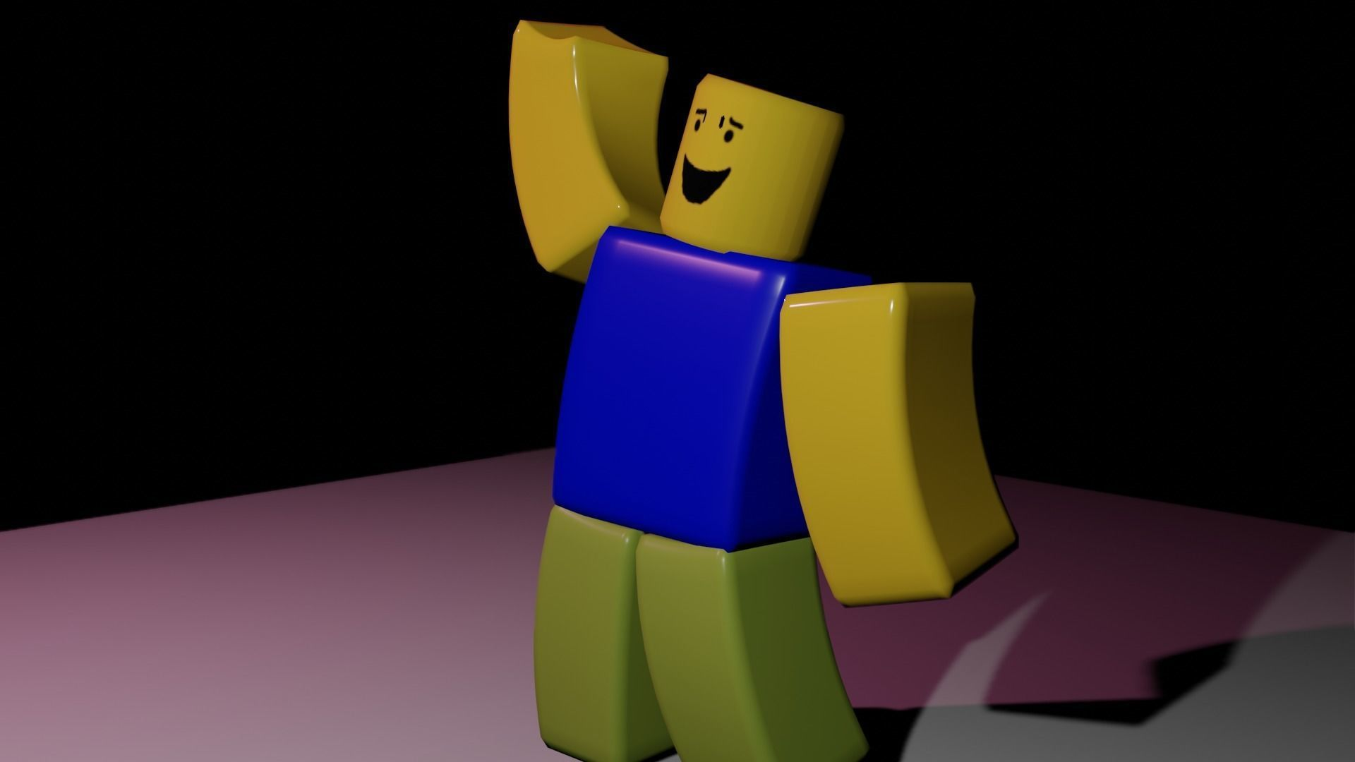 3D model Noob Roblox Rigged Game asset CGTrader