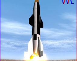 3d model hermes a1 ballitic missile