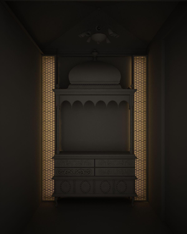 Indian Pooja Room 3d Model
