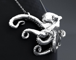 Polygon Octopus Pendant 3D Model