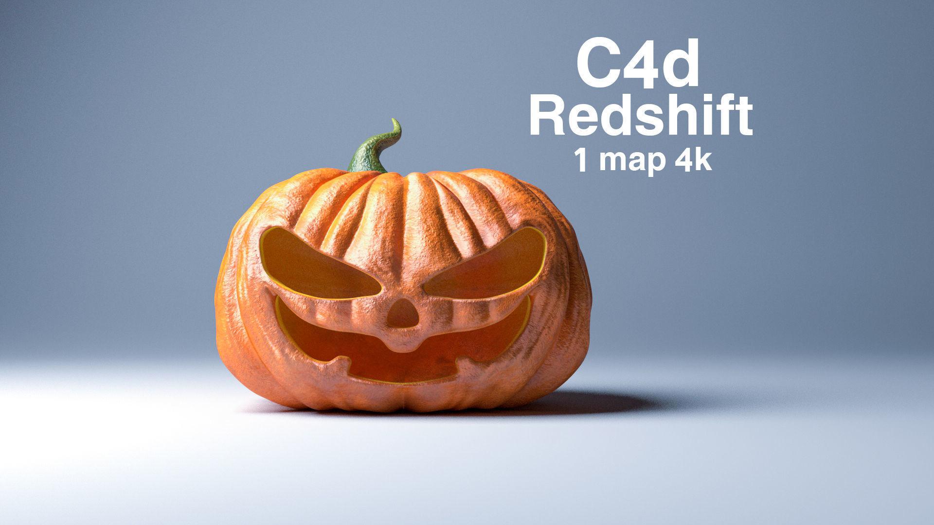 Halloween pumpkin evil