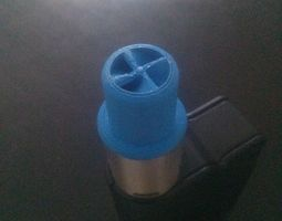 wide bore drip tip with spiral insides 3d print model