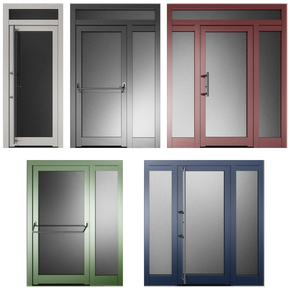 Metal swing fire doors