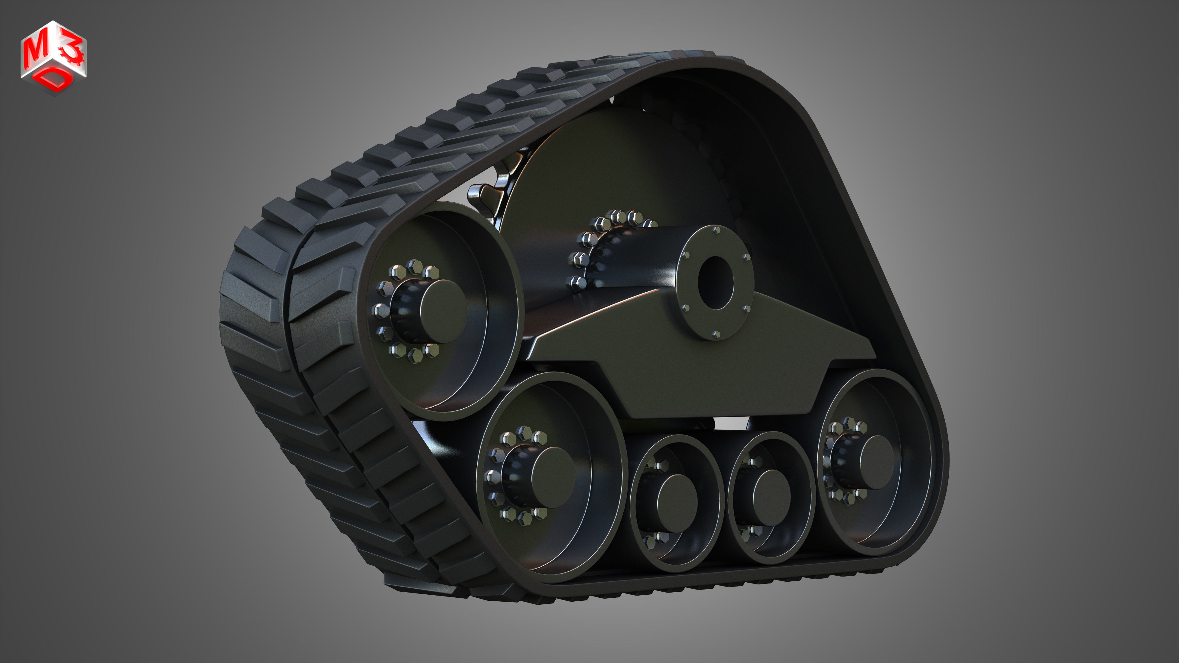 Rubber Track System 3 - Combine Harvester - Crawler Tractor