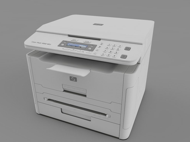 laser printer hp 3d model 3ds fbx c4d 1
