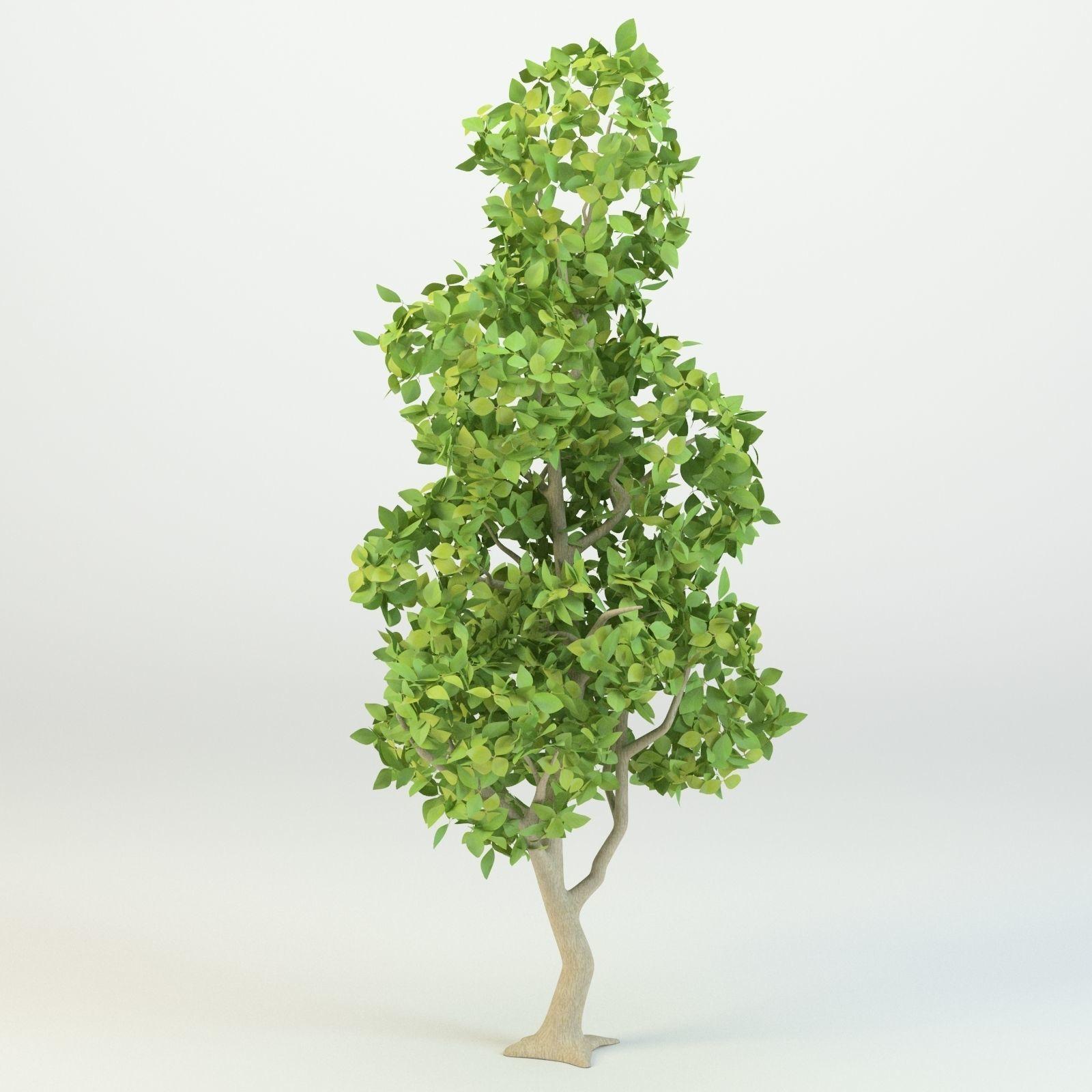 Cartoon tree Low-poly 3D model