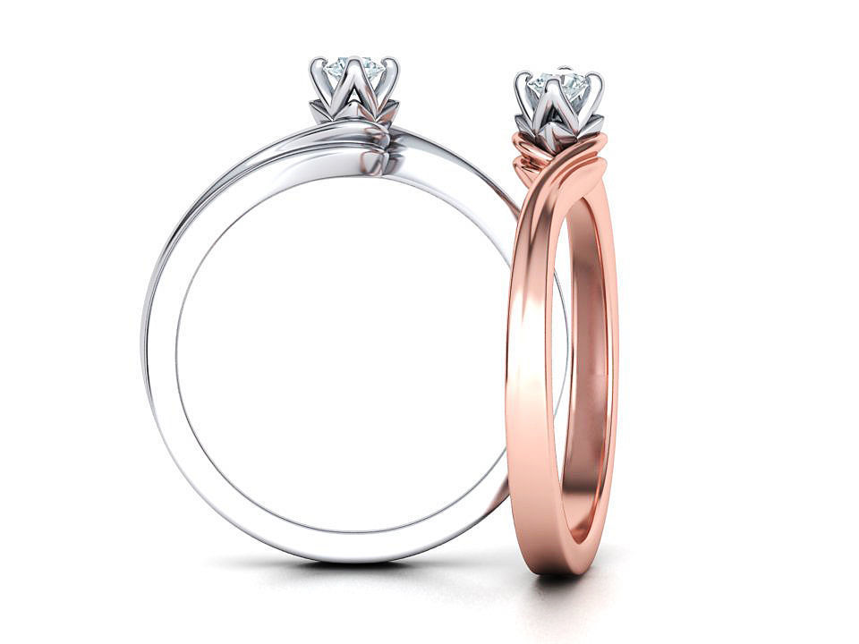 Paradise Solitaire Ring Four-Prong Setting 3mm Stone 3dmodel