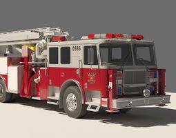 rescue fire truck 3d model