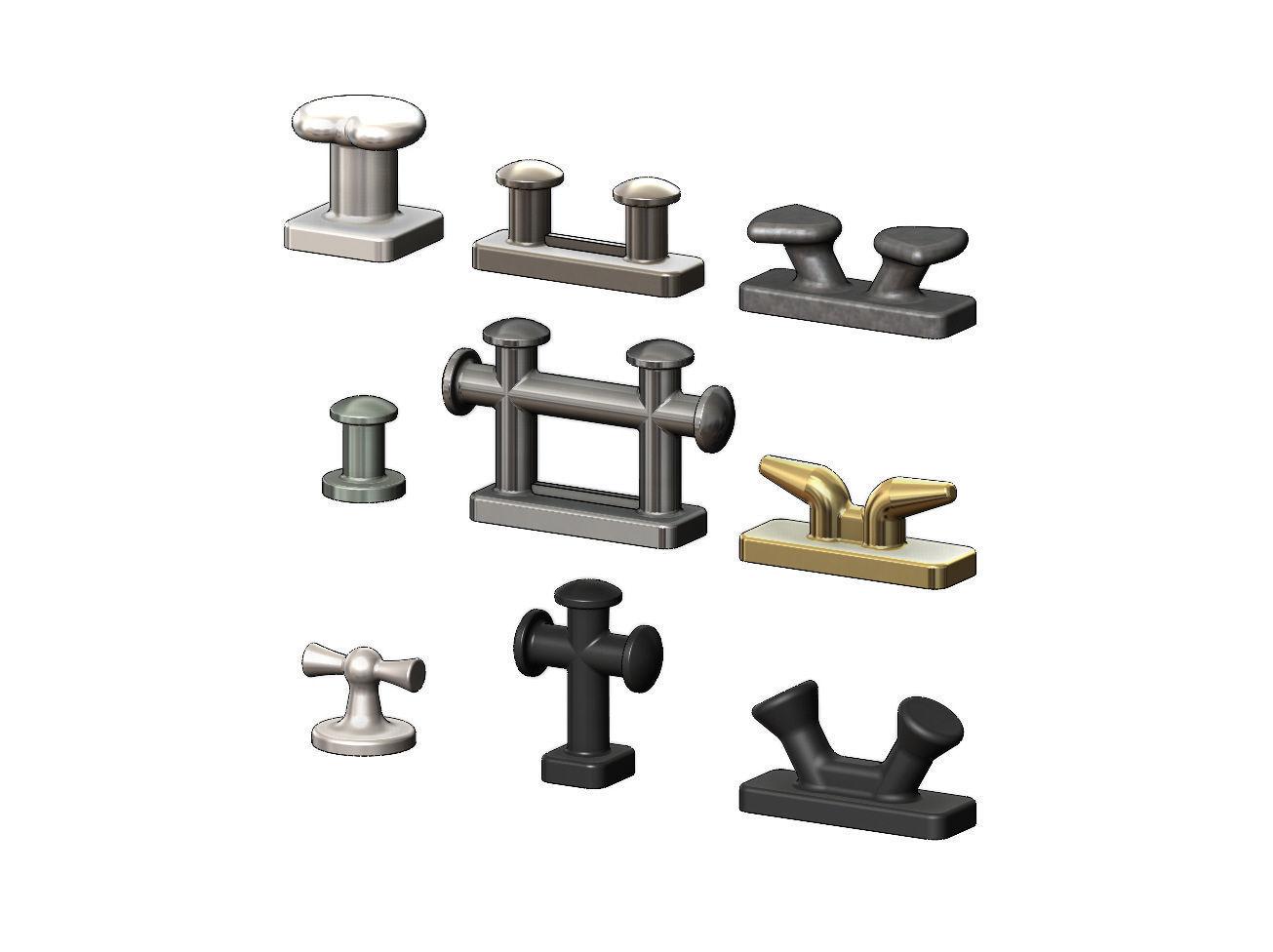 Mini set of shipyard bollards