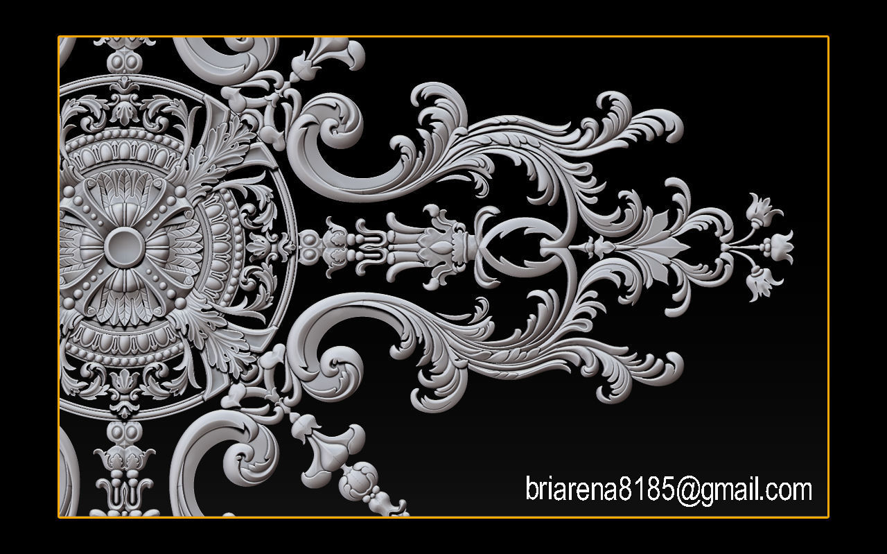 Decorative ornament CNC wooden cutting