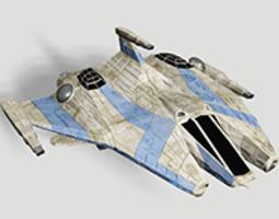 cdf space combat fighter 3d model