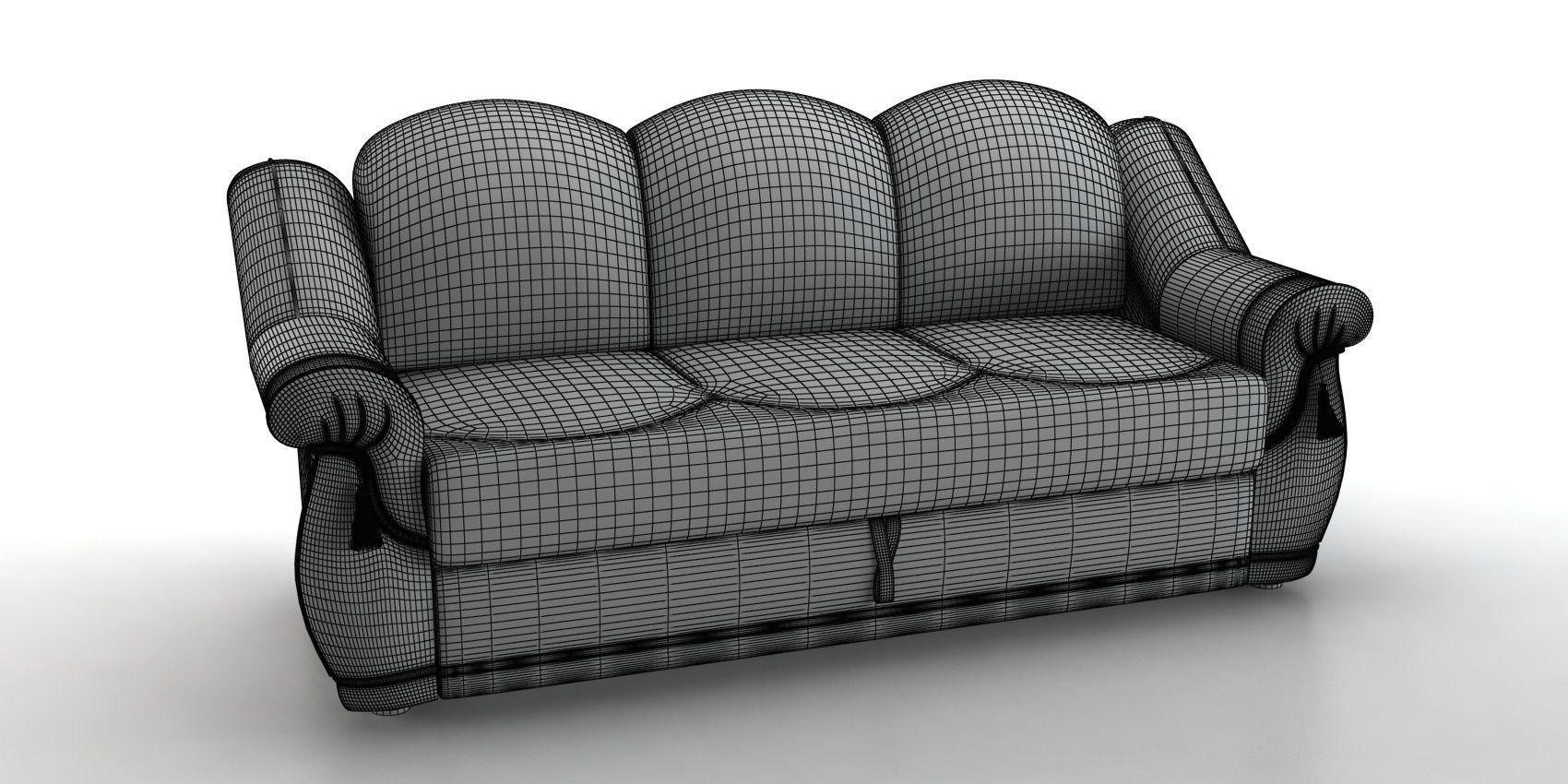 ... Sofa Boston 3d Model Max Obj Mtl Fbx 4 ...