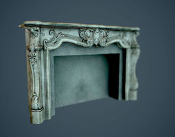 VR / AR ready PBR fireplaces  - low poly 3d model