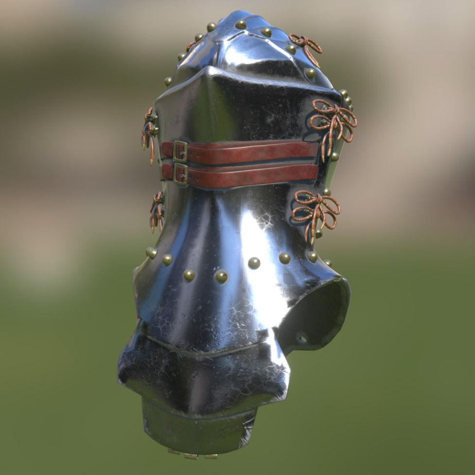 frog-mouth-helm-3d-model-low-poly-obj-3ds-fbx-blend-dae